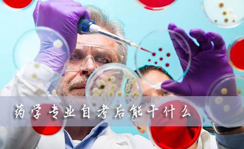 药学专业自考后能干什么