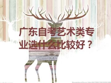 广东自考艺术类专业选什么比较好?