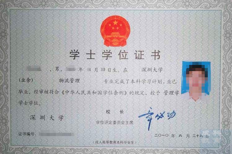 华南实师范大学自考学位证